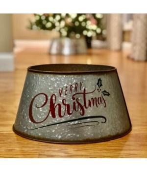 Merry Christmas Metl Tree Collar Large