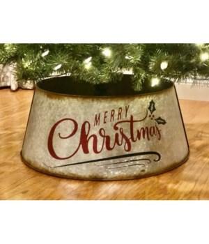 Merry Christmas Metl Tre Collar Small