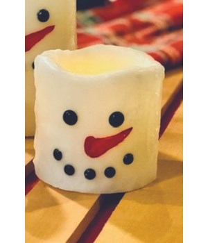 Snowman LED Pillar Candle 3 in.