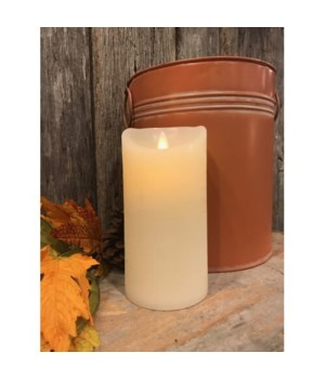 Cream LED Pillar Candle 6 in.
