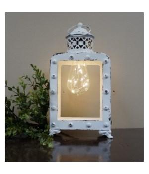 LED Cream Lantern 14 in x 6 in