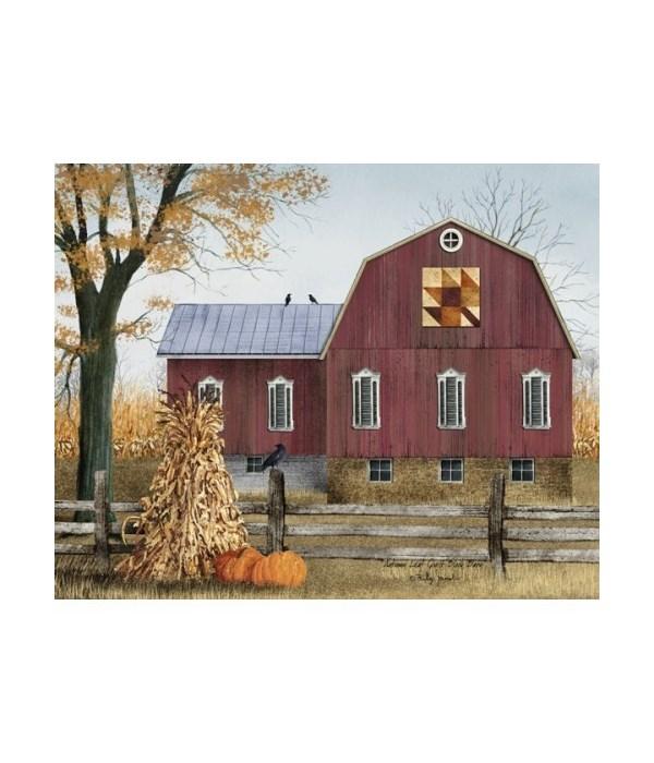 Autumn Quilt Barn Canvas 12 x 16 in.