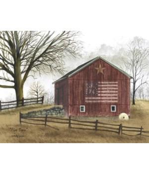 Flag Barn Canvas 12 x 16 in.