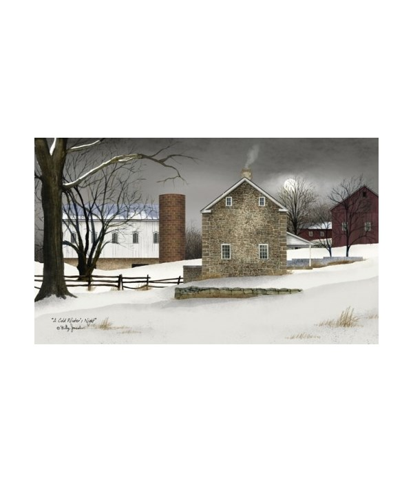 Cold Winter's Canvas 12 x 20 in.