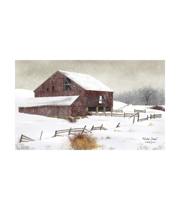 Winter Storm Canvas 12 x 20 in.