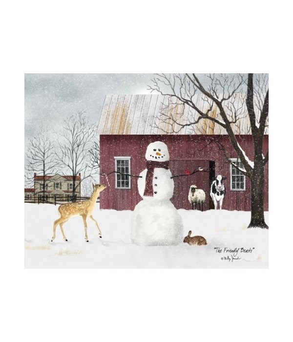 Friendly Beasts Canvas 12 x 16 in.