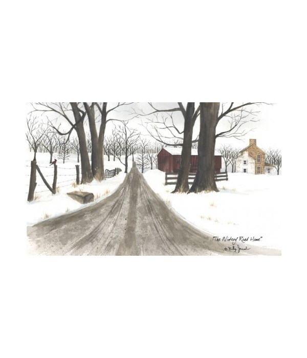 Wintery Road Canvas 6 x 10 in.