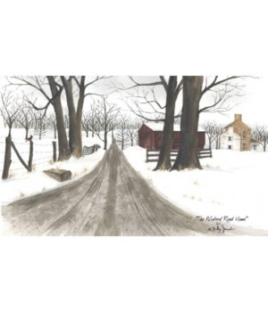 Wintery Road Canvas 12 x 20 in.