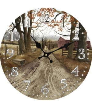The Road Home Clock 13 in.