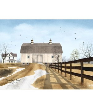 Grandpaps Barn Canvas 12 x 16 in.