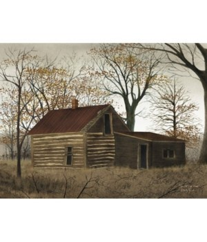 Old Log Home Canvas 12 in.x16 in.