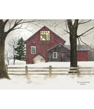 Pine Tree Quilt Block Barn