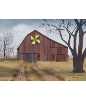Dbl Pinwheen Quilt Block Barn
