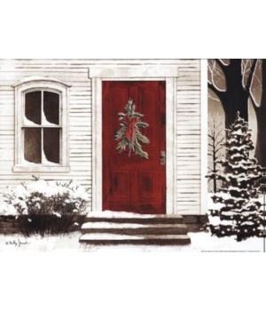 Red Door Canvas 12 in.x16 in.