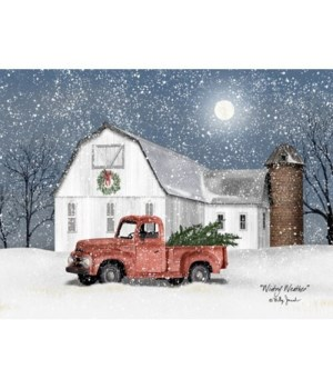 Wintry Weather Canvas 12 in.x16 in.