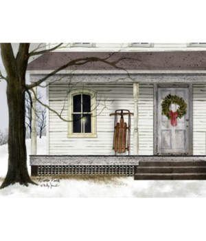 Winter Porch Canvas 12 in.x16 in.