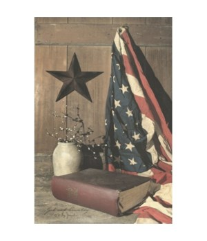 God And Country Canvas 12 in.x18 in.
