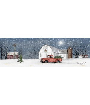 Winter On The Farm Canvas
