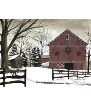 Christmas Barn Canvas 8 in.x10 in.