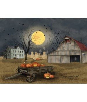 LED Harvest Moon Spooky 12 x 16 in.