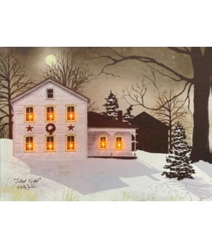 LED Silent Night Canvas 8 in.X10 in.