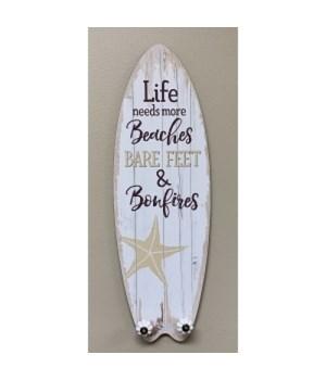 Life Needs Beaches Surfboard H
