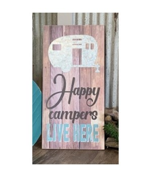 Happy Campers Sign 19.75 x 9.75 in.