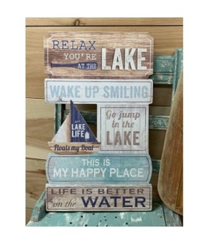 Relax Lake Sign
