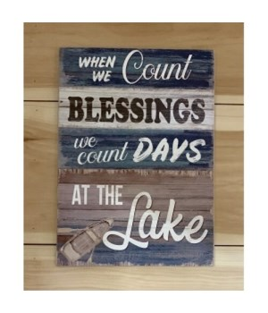 Blessings At The Lake Sign