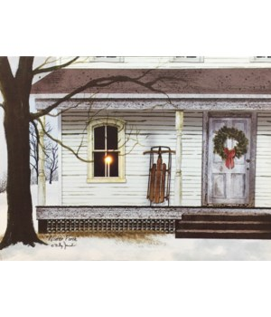 LED Winter Porch Canvas 12 x 16 in.