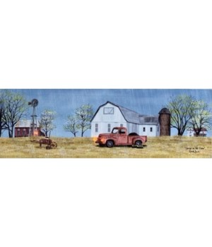 Spring On Farm Canvas 12x36
