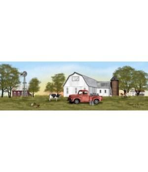 Summer On The Farm Canvas 6x18