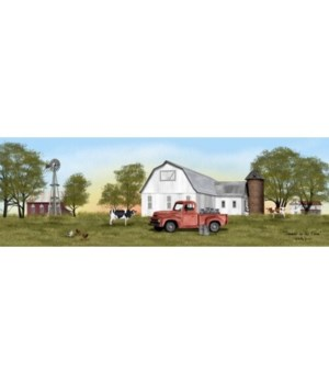 Summer On The Farm Canvas 8x24