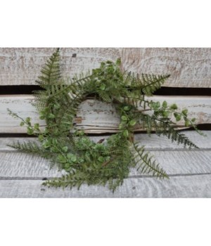 Fern Candle Ring 4.5 in.