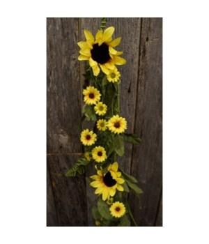 Yellow Sunflower Garland 60 in.