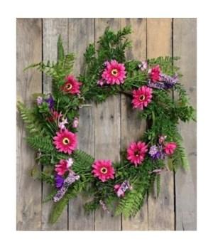 Pink/Purple Wreath 20 in.