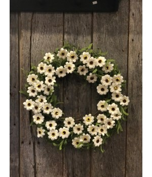 Daisy Wreath 20 in.