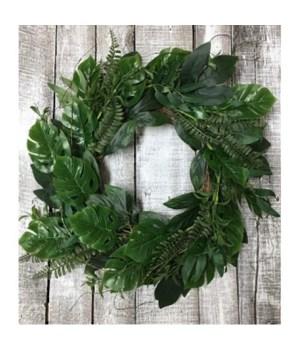 Tropical Green Wreath 22 in.