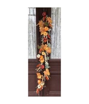 Fall Pumpkin Floral Garland 60