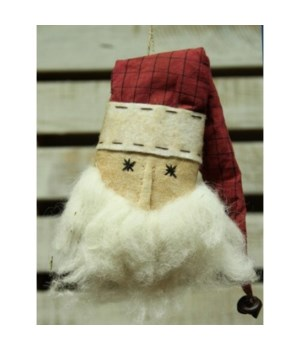 Santa Head Ornament 13 in
