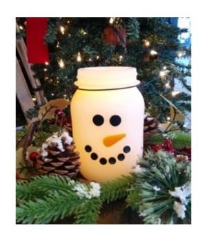 Snowman Keep Jar w/Timer 3.25 in.