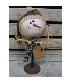 Snowman Head on Stand 13 in.