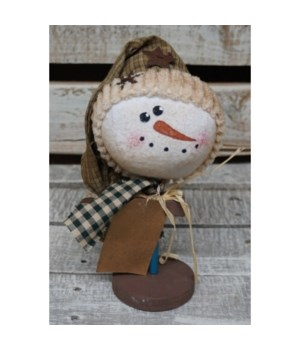 Snowman Head on Stand 8 in.