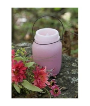 Pink Shaded LED Candle 5.25 in.