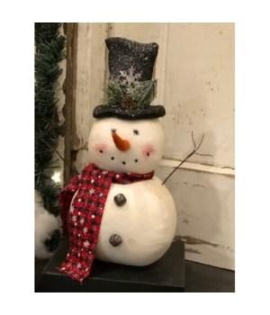 Snowflake  Blk Hat Snowman