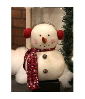 Snowflake Ear Muff Snowman