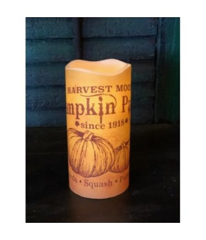 Harvest Moon LED Candle 6 in.