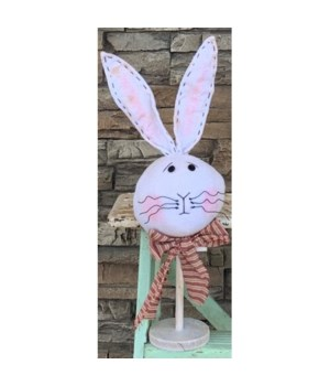 Bunny Head On Stand Lg 18.5 in.