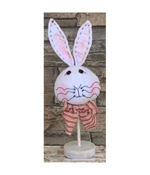 Bunny Head On Stand Sm 12 in.