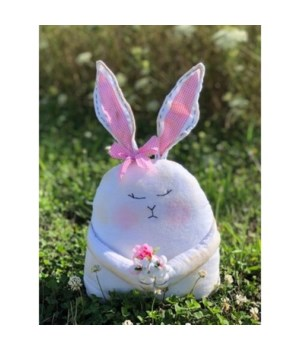 Girl Bunny with Flowers 17 in.